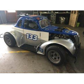 Legend Car - TMS Racing - Sølv / Hvid / Blå