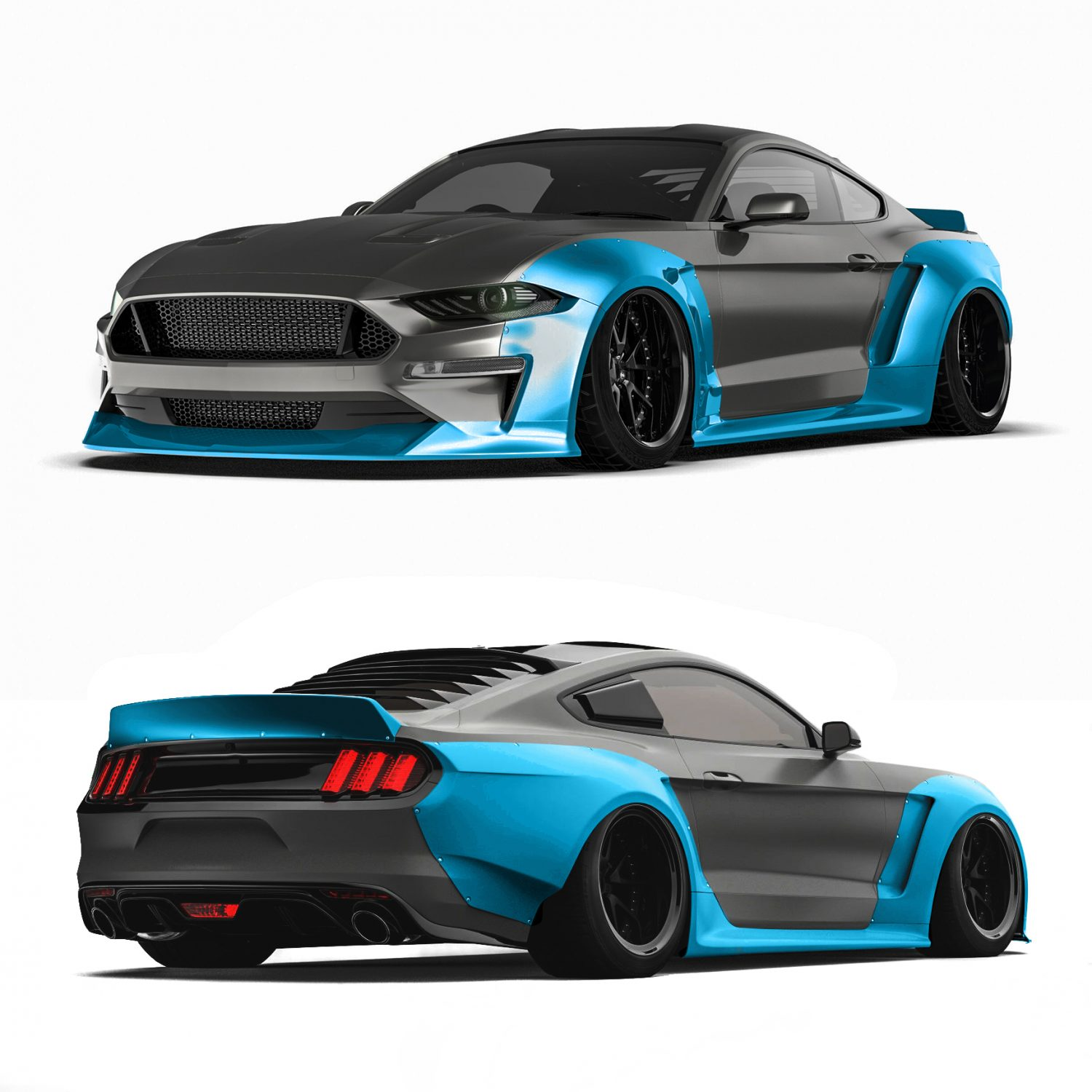 Ford mustang widebody kit 2018 widebody kit foliegejl dk
