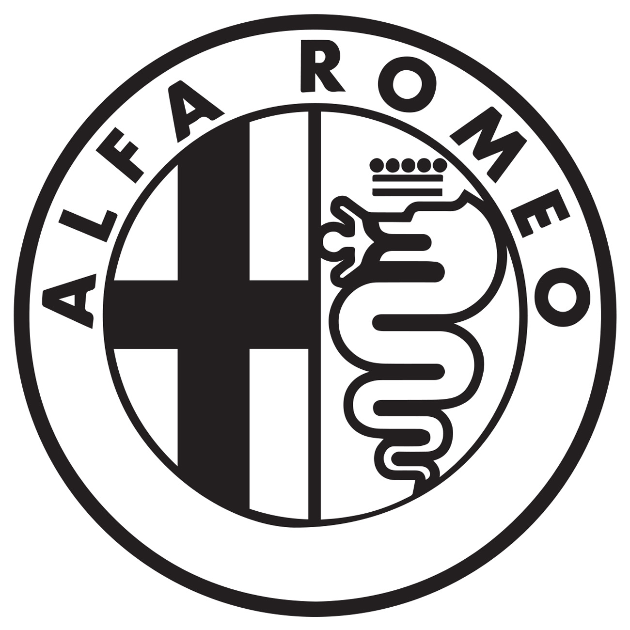 alfa romeo logo - vis alle stickers