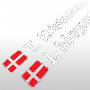 Racenavne med DK flag